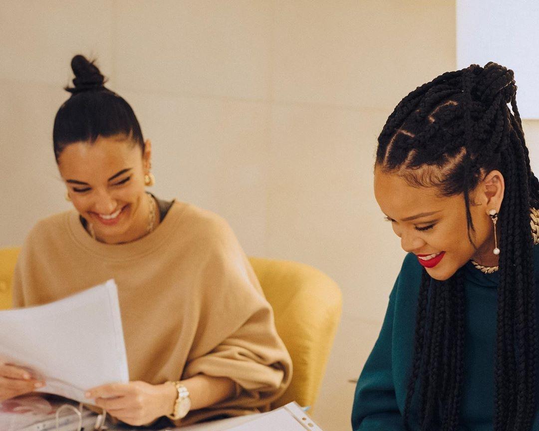 amina muaddi and Rihanna