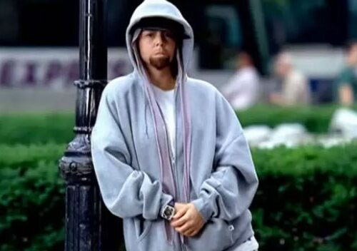 Mariah Carey dressed as Eminem