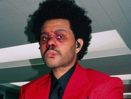The Weeknd's face